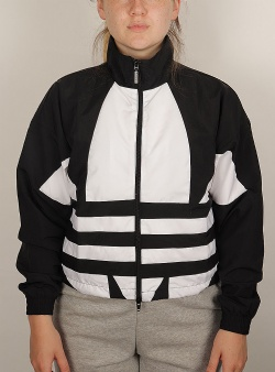 Adidas Lrg logo track top Black white