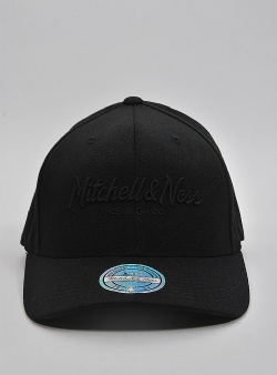 Mitchell and Ness Pinscript 110 flexfit snapback Blak black