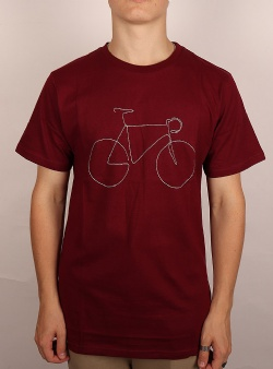 Dedicated Bicycle tee Burgundy
