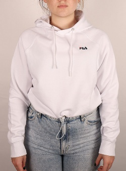 Fila Elaxi cropped hoody Bright white