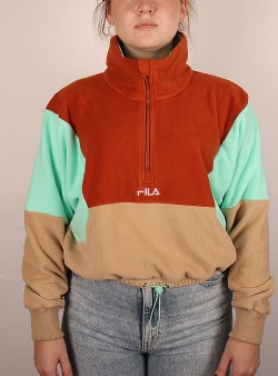 Fila Walta half zip fleece shirt Irish cream cinnamon stick