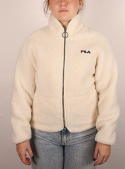Fila Sari sherpa fleece jacket Eggnog