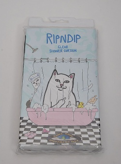 Rip n Dip Lord nermal shower curtain Clear