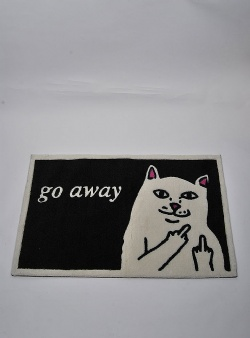Rip n Dip Go away rug Black white