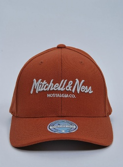 Mitchell and Ness Pinscript 110 flexfit snapback Burnt orange silver