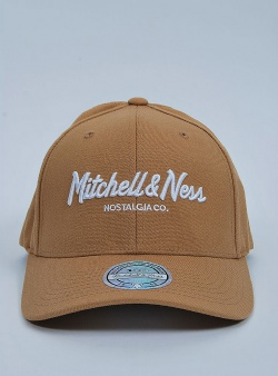 Mitchell and Ness Pinscript 110 flexfit snapback Wheat