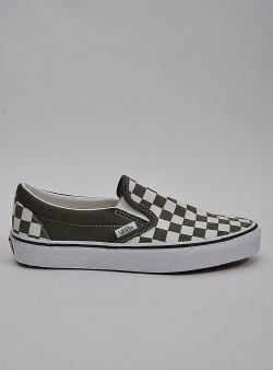 Vans Classic slip-on checkerboard Grape leaf true white