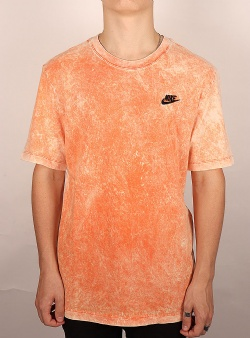 Nike Washed club tee Electro orange