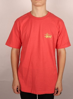 Stussy Peace pot tee Pale red