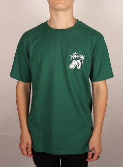 Stussy Dominoes tee Dark green