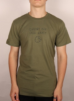 Dedicated Local planet tee Leaf green