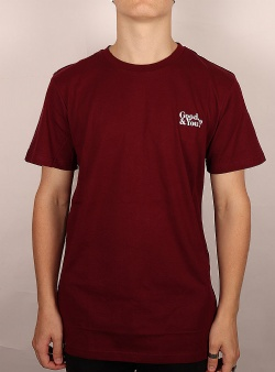 Dedicated Good and you tee Burgundy