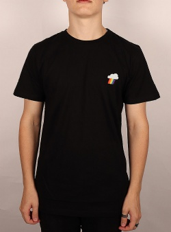 Dedicated Rainbow cloud tee Black