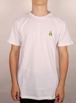 Dedicated X Nintendo Green tube tee White