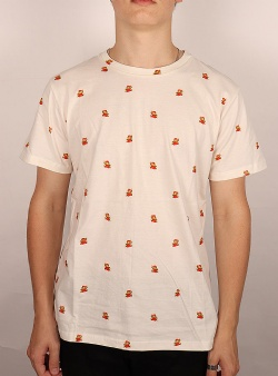 Dedicated X Nintendo Super Mario pattern tee Off white