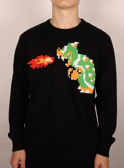 Dedicated X Nintendo Mora bowser sweater Black