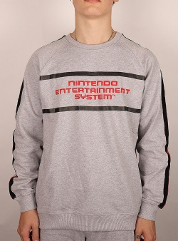 Dedicated X Nintendo Malmoe NES stripe sweat Grey melange