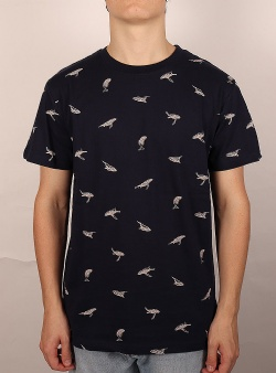 Dedicated Whales tee Navy