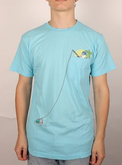 Rip n Dip Foreign fish pocket tee Light blue