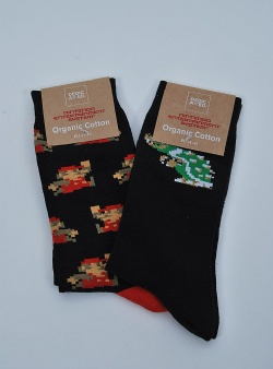 Dedicated X Nintendo 2 pack socks super mario Black