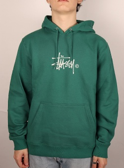 Stussy Copyright stock app hoodie Dark green