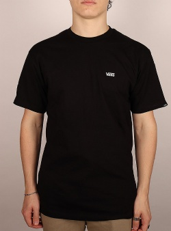 Vans Left chest logo tee Black white