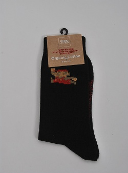 Dedicated Super Mario socks Black
