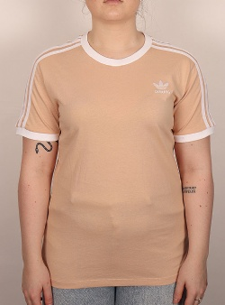 Adidas 3 stripes tee Halblu white