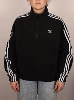 Adidas Fleece half zip Black white