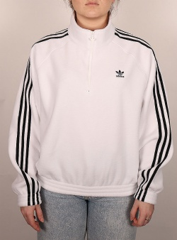 Adidas Fleece half zip White black