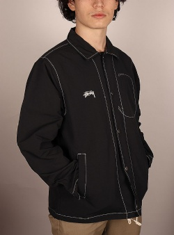 Stussy Folsom coach jacket Black