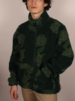 Stussy Flor sherpa mock neck Green