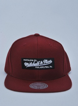 Mitchell and Ness Small boxlogo snapback Burgundy