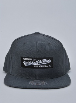 Mitchell and Ness Small boxlogo snapback Charcoal