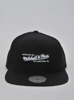 Mitchell and Ness Small boxlogo snapback Black