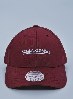 Mitchell and Ness Script lo pro snapback Burgundy