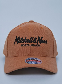 Mitchell and Ness Pinscript redline snapback Tan black