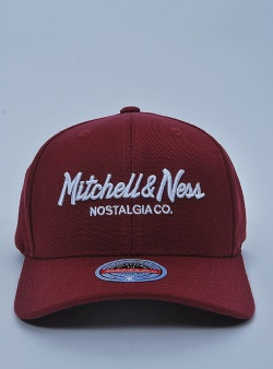 Mitchell and Ness Pinscript redline snapback Burgundy