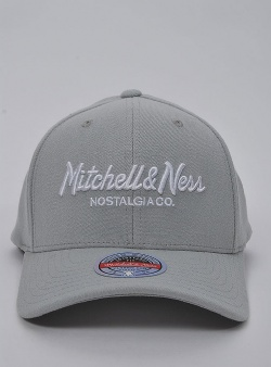 Mitchell and Ness Pinscript redline snapback Grey