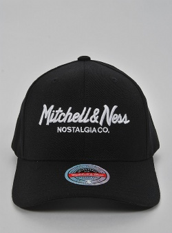 Mitchell and Ness Pinscript redline snapback Black white
