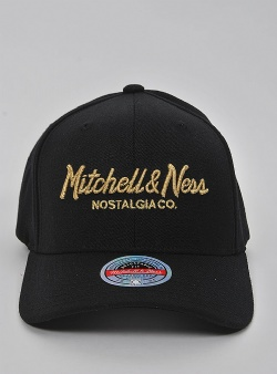 Mitchell and Ness Pinscript redline snapback Black gold