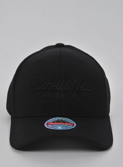 Mitchell and Ness Pinscript redline snapback Black black