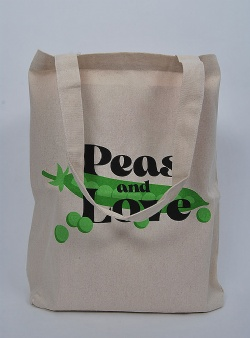 Dedicated Peas and love tote Off white