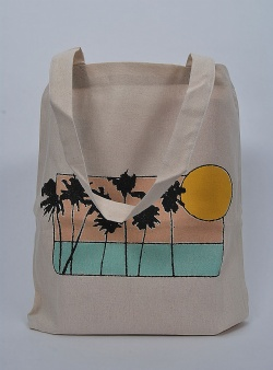 Dedicated Sunset palms tote Off white