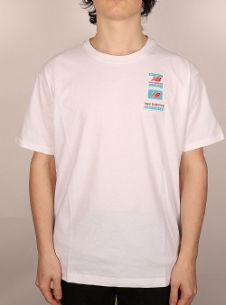 New Balance Essentials tag tee White