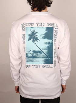 Vans Moonstone beach ls tee White
