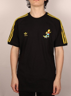 Adidas Simpsons 3 stripes tee Black