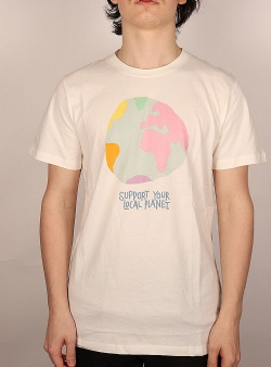 Dedicated Color globe tee Off white