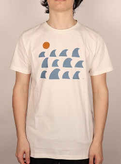 Dedicated Rays and waves tee Off white