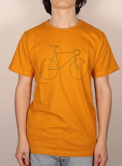 Dedicated Bicycle tee Mustard